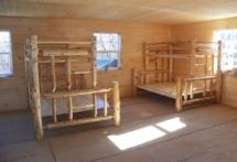 Rustic log bunk bed furniture by Adirondack LogWorks