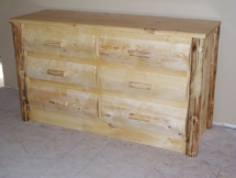 Rustic log chest of drawers with log trim by Adirondack LogWorks